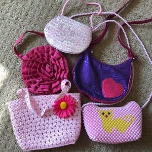 Other - Little girls purse bag dress up play 5 pc bundle